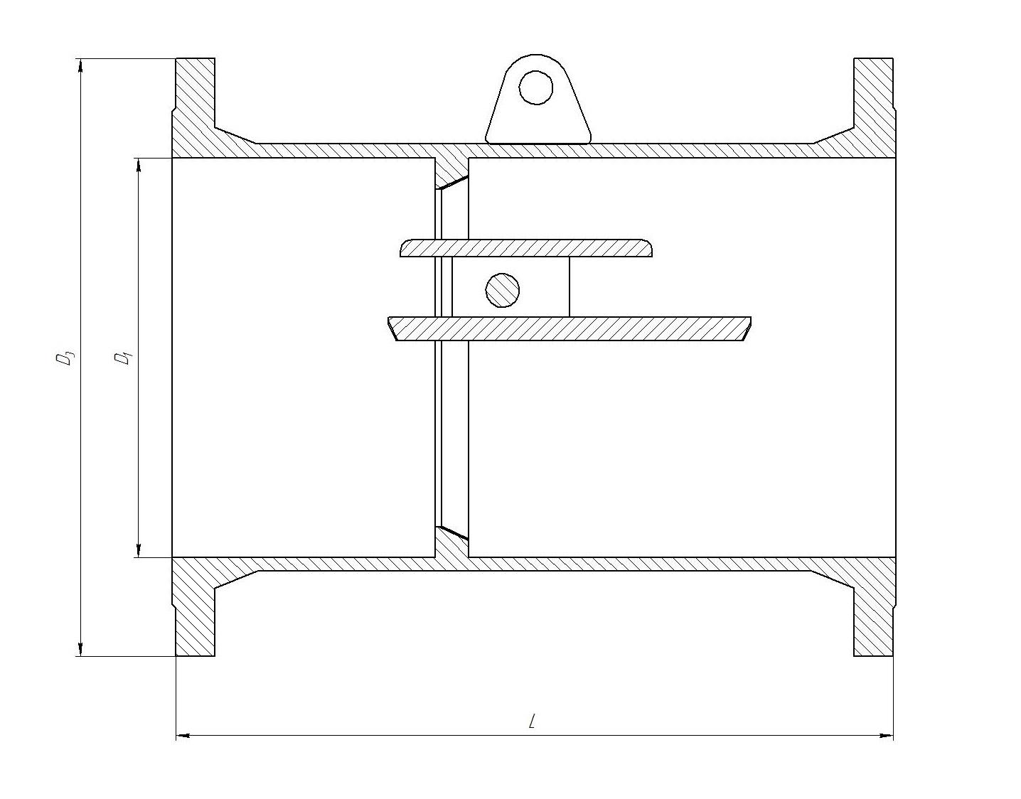 Kлапан обратный стальной чертеж