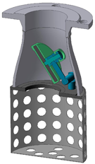 16ч42р - Клапан обратный приемный с сеткой фланцевый.